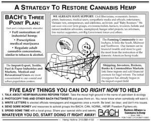 business alliance for commerce in hemp marijuana legalization strategy launched 1988